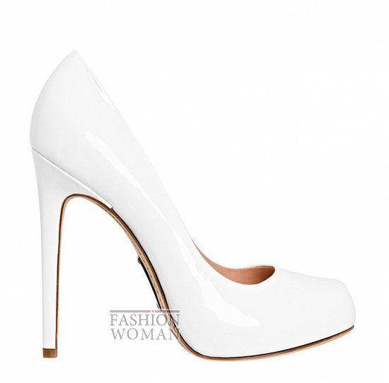 Белые открытые туфли на платформе Bebe