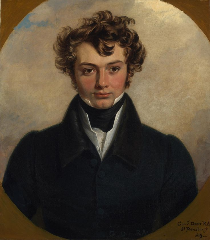 history-of-fashion:  1819 George Dawe - Portrait of a young man: