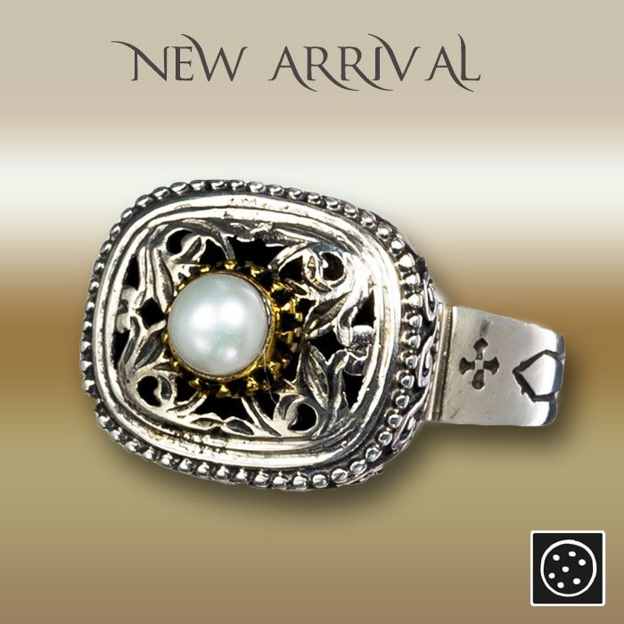 A new sterling silver ring with pearl and gold accents. Check out the link for more details and join our newsletter to get your exclusive discount.