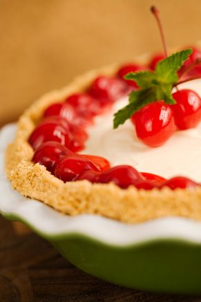 Paula Deen Cherry Cream Cheese Pie...I actually make this pie all the time and it's super easy and REALLY yummy