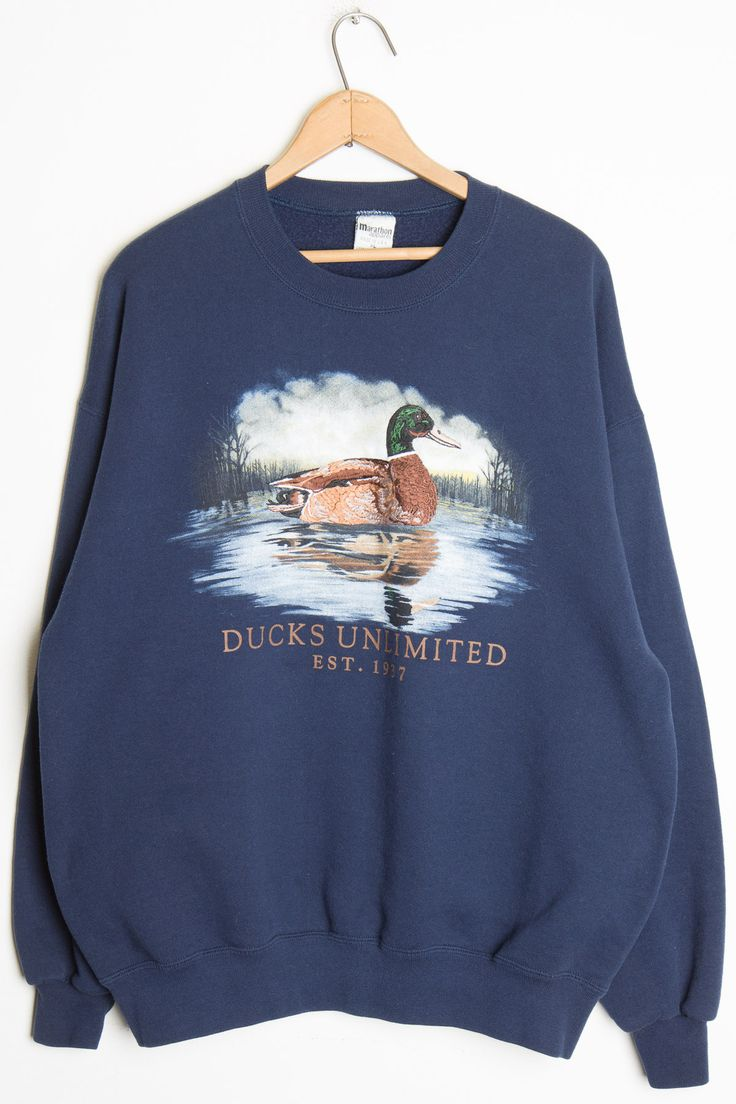 Ducks Unlimited Vintage Sweatshirt- Somethin about fall makes wildlife sweatshirts so appropriate!