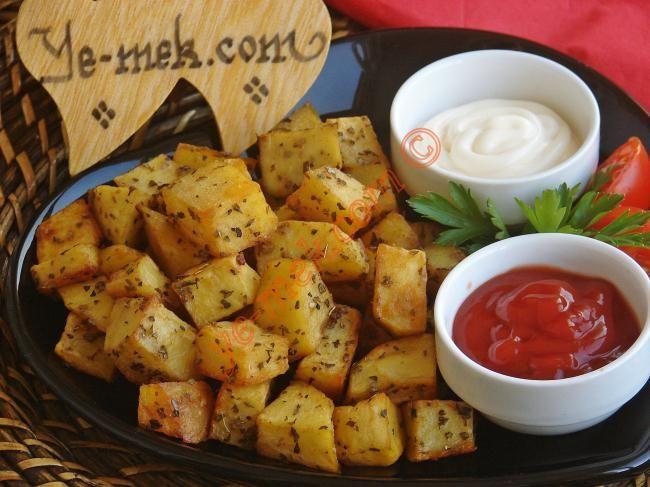 Fırında Zeytinyağlı Patates Resimli Tarifi - Yemek Tarifleri