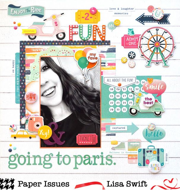 Product Spotlight with Paper Issues: Going to Paris (Echo Park Summer Dreams)