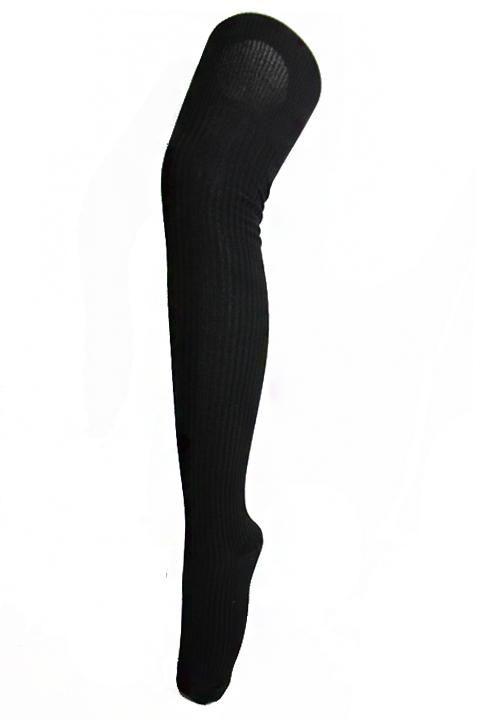 Basic Black Thigh High Socks
