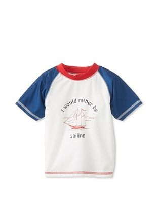 48% OFF Wippette Kid's Rather Sail Rash Guard (White)