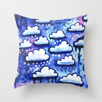 Clouds Throw Pillow by Stina Glaas - $20.00