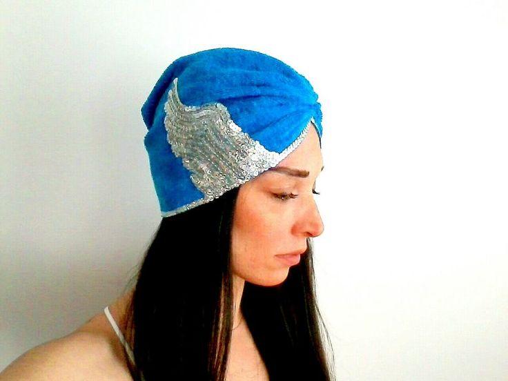 Çivit Mavi Havlu Saç BantıTürban Bone Zet.com'da 79.90 TL