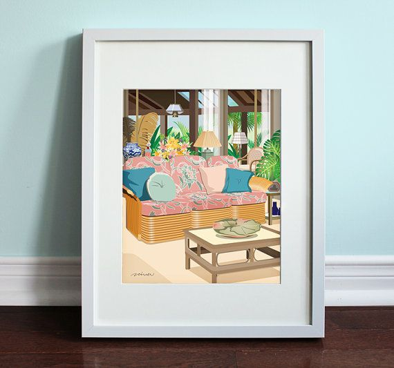 The Golden Girls Living Room The Golden by BeautifulPeaceShop