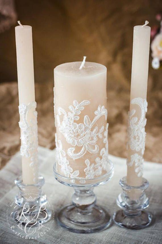 Rustikale Einheit Kerze Set Fur Hochzeit Rustikale Vintage
