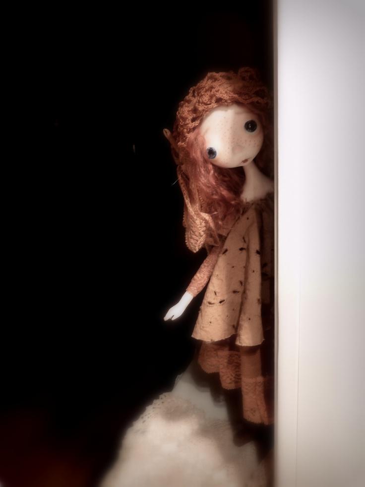 Nok..Nok...Who's at the door?    * I r i n a *  ooak art dododoll by anastasia dododolls-jan 2013