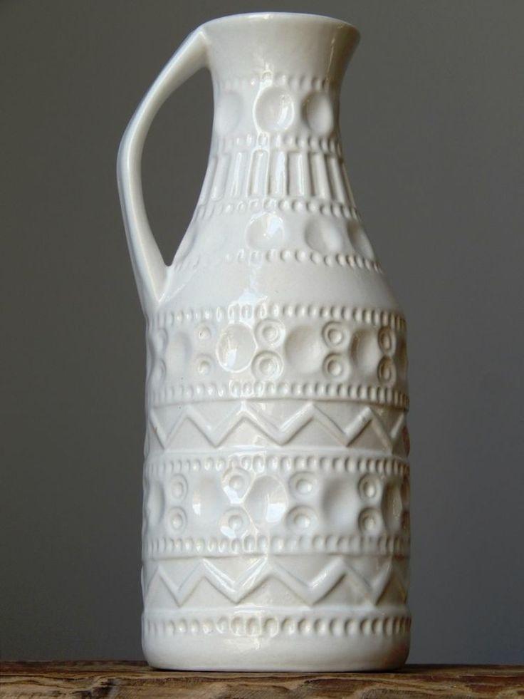 Vintage 60-70s BAY KERAMIK 224 Vase/Pitcher West German Pottery Art Fat Lava Era