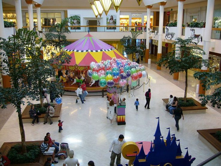 South Coast Plaza in Costa Mesa, California, in 2006. The largest shopping mall on the West Coast, it was built by Victor Gruen and opened in 1967.