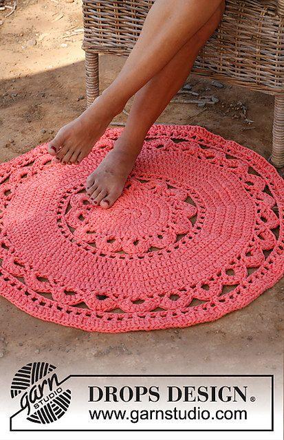 Hand Crochet Cotton Rug  Cotton Crochet Doily. Love the idea. Another summer project?