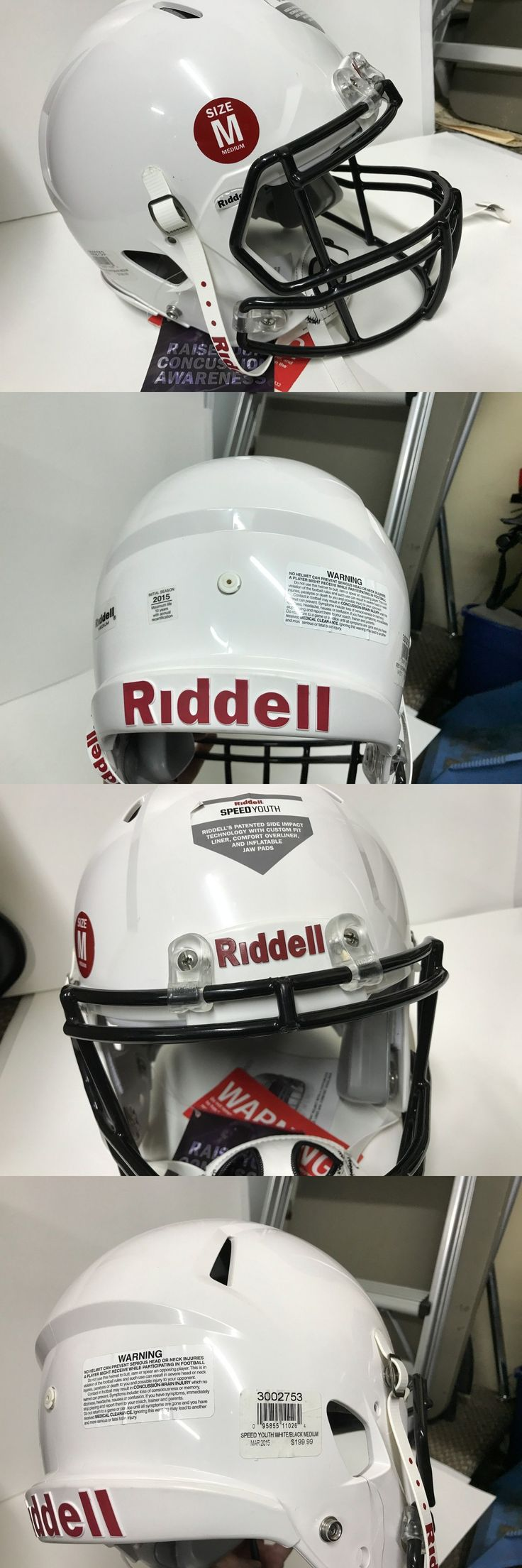Helmets and Hats 21222: Riddell Speed 360 Youth Football Helmet Med White 2015 (Msrp = $199) -> BUY IT NOW ONLY: $100 on eBay!