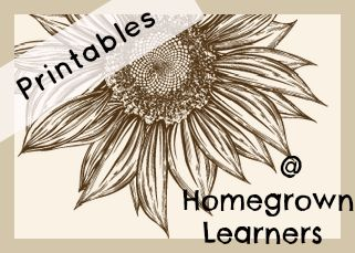 Free Printables for lots of homeschooling units and ideas!