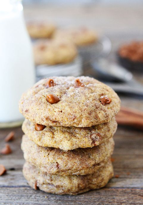 Pumpkin Cinnamon Cookie Recipe on twopeasandtheirpod.com Love these cookies!