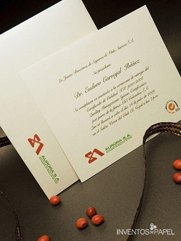 Tarjeta de Invitación | Invitaciones Empresariales ...