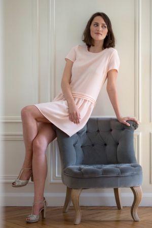 Robe Magali rose poudré - l'atelier de Camille - Inspiration
