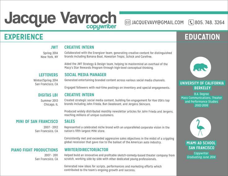 36 best CV images on Pinterest Resume templates, Creative resume - brand strategist resume