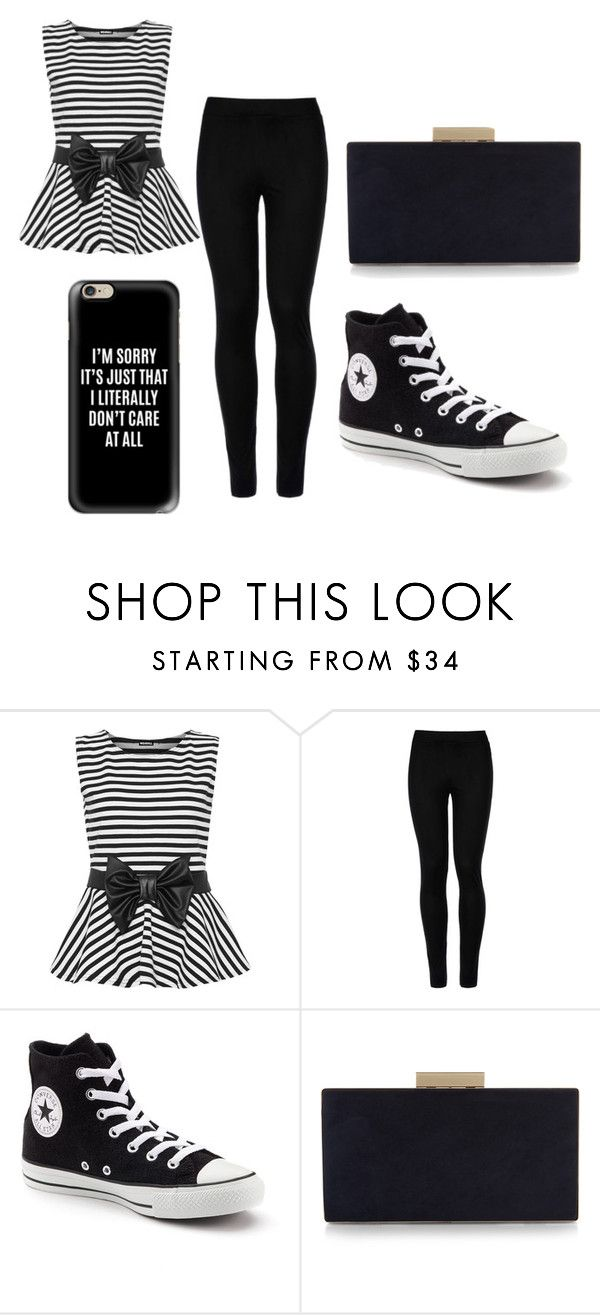 """""""Night Out ♡"""" by isabellamateus on Polyvore featuring WearAll, Wolford, Converse, Monsoon and Casetify"""