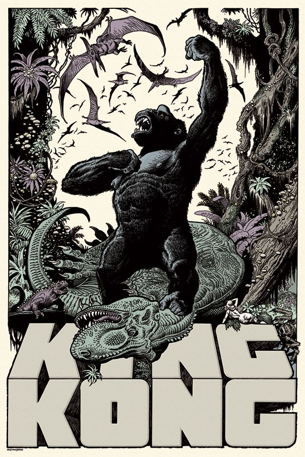 "Affiche originale Mondo ""King Kong ComicCon"" par William Stout, numérotée. Screen print Regular edition size of 325.@asgalerie #asgalerie #williamsstout #Mondo #kingkong."