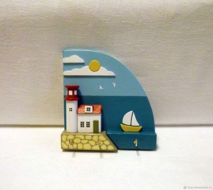 Купить Ключница, домики, море, декор интерьера в интернет магазине на Ярмарке Мастеров