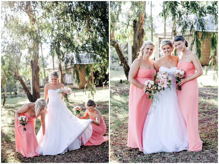 Pretty in Pink. Bridesmaids dressed by Bride&co www.brideandco.co.za | Click to View Kelly & Aidan's Real Wedding by Vanilla Photography.