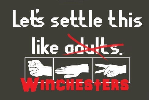 Always pick scissors if you're Dean Winchester.
