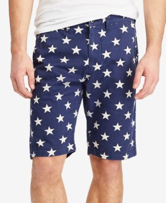 Denim & Supply Ralph Lauren Men's Slim Fit Printed Cotton Chino Shorts - Navy 32