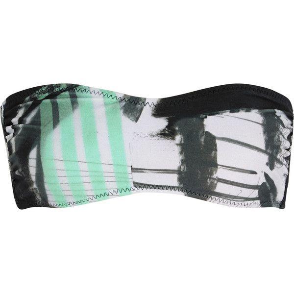 Norma Kamali Sunglass printed bandeau bikini top ($49) ❤ liked on Polyvore featuring swimwear, bikinis, bikini tops, grey, bandeau bikini tops, multi color bikini, colorful bandeau tops, swimsuit tops and multicolor bikini