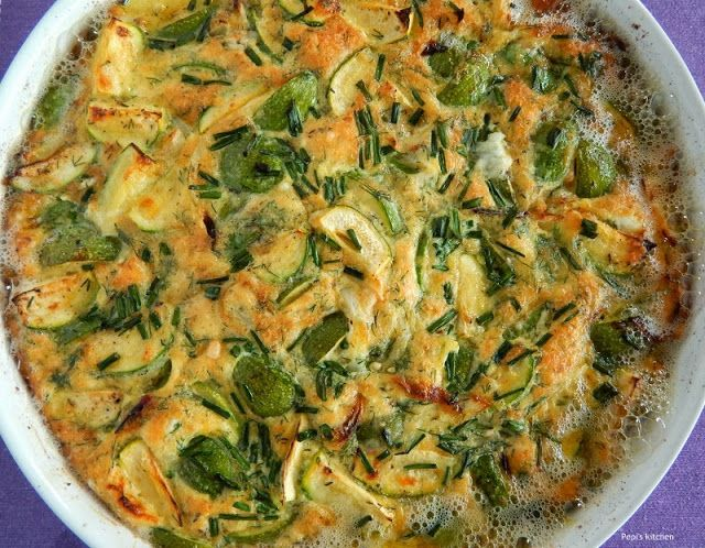 Pepi's kitchen: Ομελέτα με κολοκυθάκια στο φούρνο