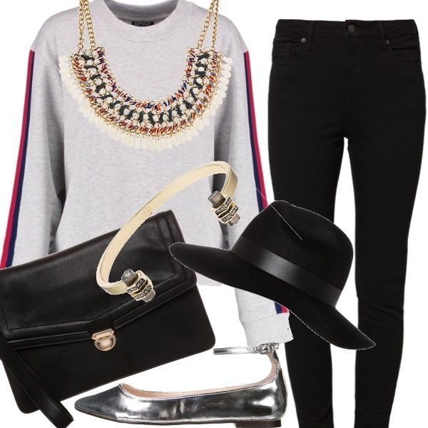 Un jeans e una felpa con i gioielli e gli accessori giusti possono diventare qualcosa di straordinario.  Un outfit casual per donare un'allure intrigante a chi lo indossa ed essere comode ma femminili con semplicità e naturalezza. So glamorous!