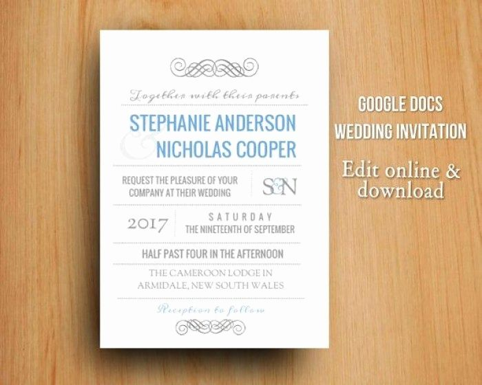 google docs invitation template