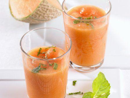 Rezept: Kalte Melonensuppe mit Minze