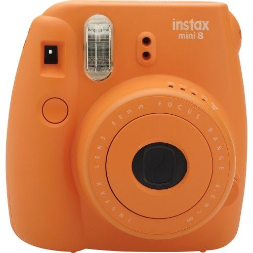 Fujifilm - instax mini 8 Instant Film Camera - Vivid Orange - Front Zoom