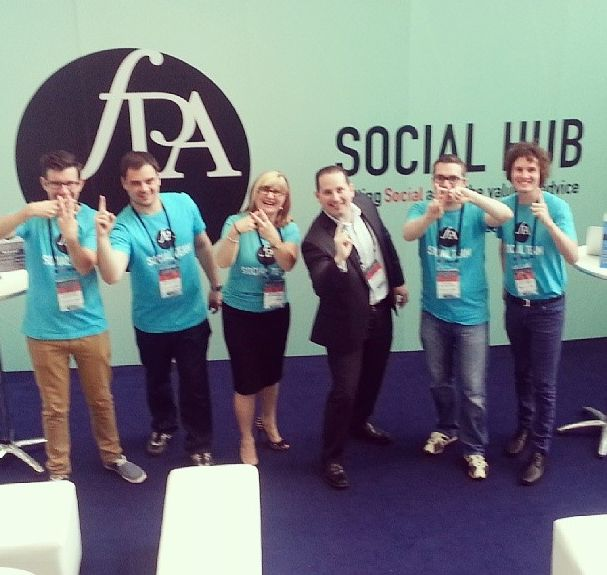 The Social Adviser team pumped up after #FPACongress trending #1 on Twitter nationally!