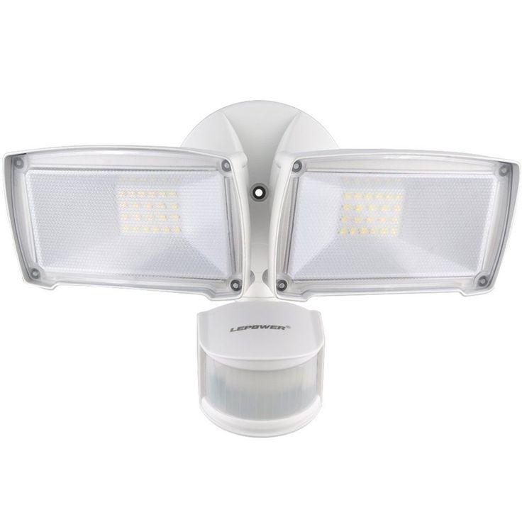 25 pinterest led security light outdoor motion sensor 6000k ip65 waterproof adjustable head mozeypictures Images