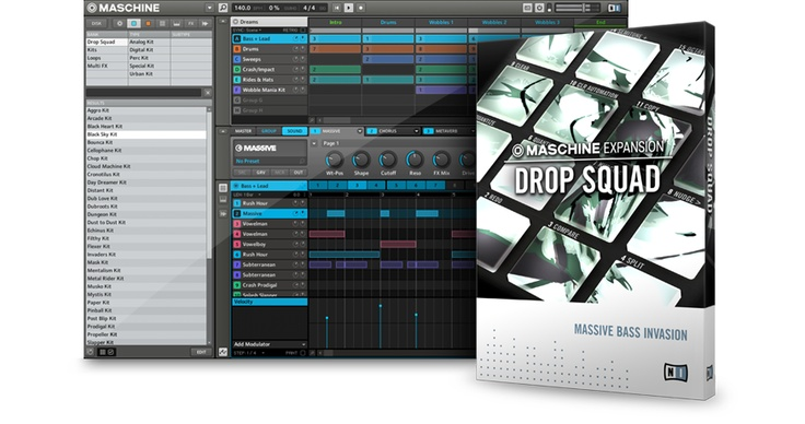 MASCHINE EXPANSIONS : DROP SQUAD | NATIVE INSTRUMENTS :