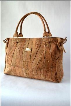 Kortica Charlotte Cork Bag in Zebra Pattern