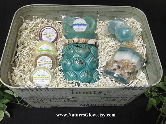 Nautical Gift Basket Candle Gift Basket Beach Gifts Beach