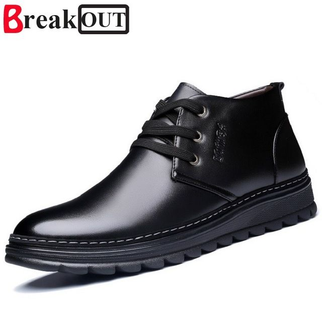 Buy now Break Out New Men Winter Boots Snow Boots for Men Ankle Boots Warm Lace Up with Plush&Fur Fashion Men Shoes just only $25.31 with free shipping worldwide  #menshoes Plese click on picture to see our special price for you