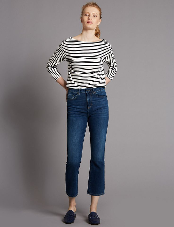 Demi Boot Mid Rise Flare Jeans | Marks & Spencer London