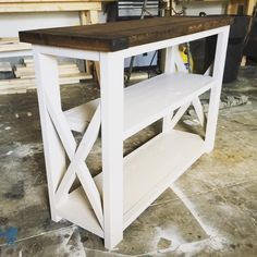 Rustic Home Decor | Ana White | DIY | Shanty 2 Chic | Rustic | Shabby Chic | Entry Way Table | Coffee Table | Living Room | Reclaimed Wood | Salvaged Wood | Living Room Ideas | End Tables | Industrial Decor