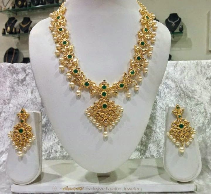 Indian Jewellery and Clothing: Beautiful Gold Coated designer jewellery from…