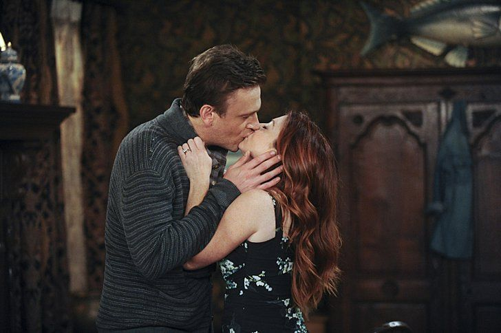 Pin for Later: The Sexiest TV Moments of 2014 How I Met Your Mother Marshall (Jason Segel) and Lily (Alyson Hannigan) get down with their funky selves. We'll miss you guys.
