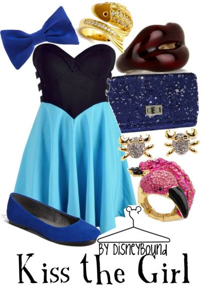 : The Kiss, Disney Outfit, Inspiration Outfit, Disney Inspiration, Disneybound, Disney Bound, The Dresses, Girls Outfit, The Little Mermaids