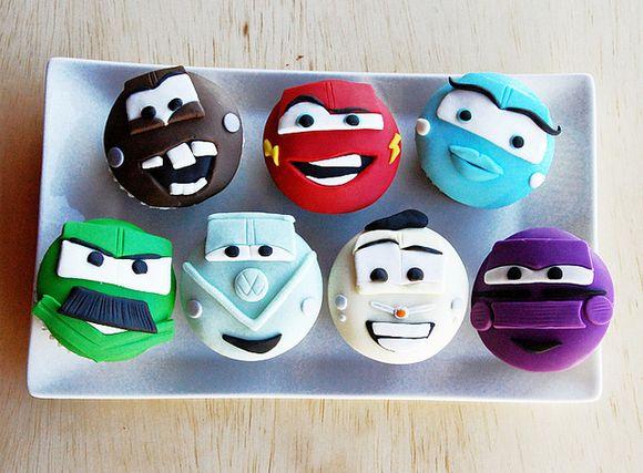 These Car cupcakes are so rad! #Disney #Cars #Cupcakes