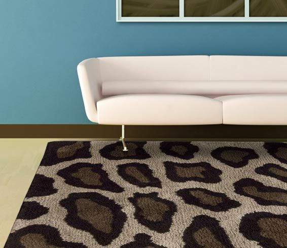 Cheap Outdoor Rugs Nourison Splendor Beige Black Area Rug This leopard print area rug has large bold spots Brown beige and black animal print will make your contemporary