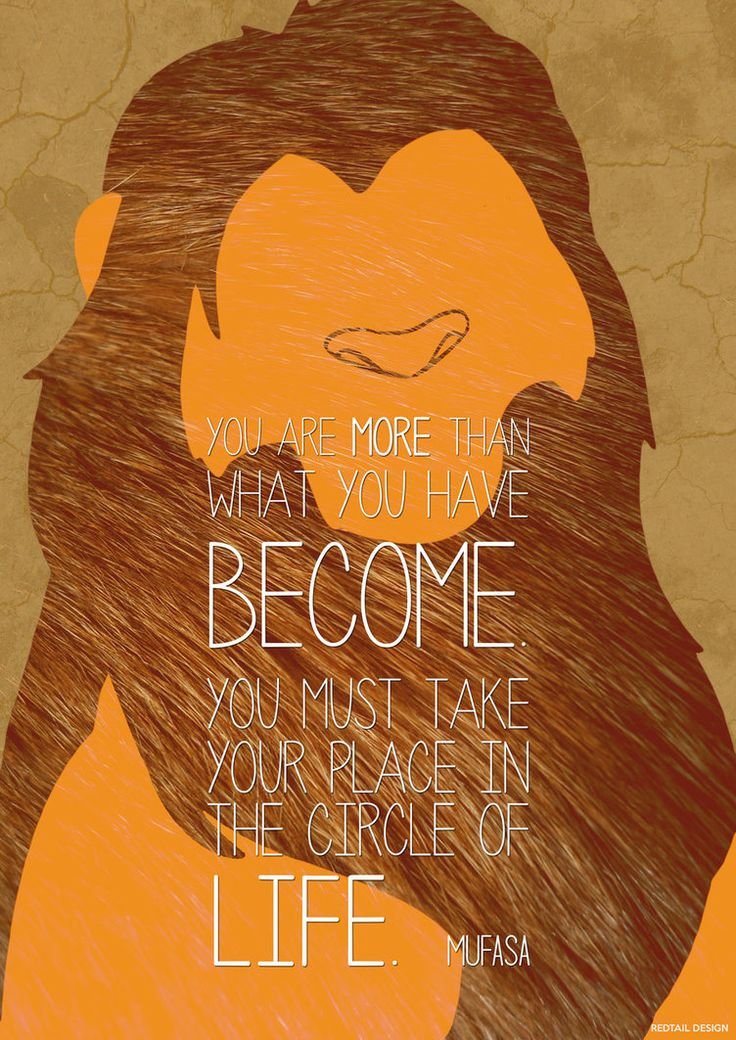 Lion King - Simba Mufasa Quote Poster by JC-790514 on DeviantArt