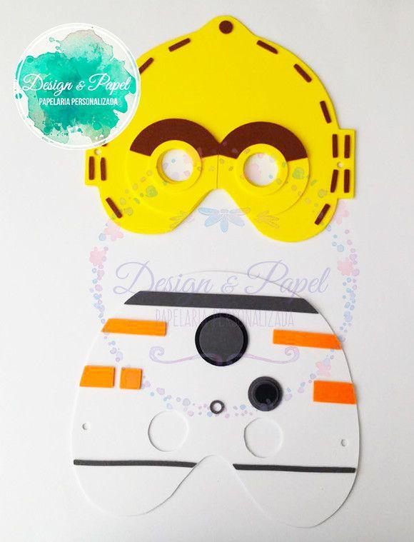 Máscaras infantis feitas em E.V.A e com corte perfeito produzido em máquina de corte eletrônico.    Modelos Disponíveis: Princesa Leia, Darth Vader, Stormtrooper, Yoda, C3PO, R2D2, Chewbacca, Han Solo, Luke, Padmé Amidala, Darth Maul, Wicket, BB8, Boba Fett    ------------------------------------...